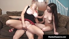 Milf Charlee Chase & Hubby Fuck Baby Sitter!
