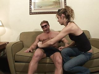 Amateur hunk - Experienced hunk has a gorgeous brunette riding his dick