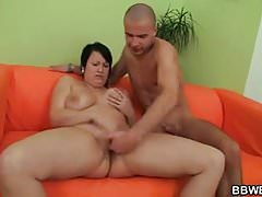 Hot bbw enjoys pussy fingering and cock riding