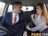 Redhead hottie Ella Hughes gets doggy styled in the car