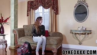 Busty MILF Lexi Luna strapon fucks cute teen Stoney Lynn