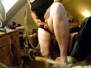 Showing her big clit on hidden camera
