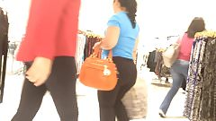 Fat Butt Black Pants Latina in Mall