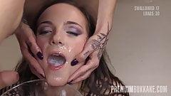 PremiumBukkake - Kristy Black swallows 60 big cum loads