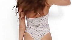 Daniela Lopez Osorio bikini try on