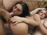 Three Nasty Sluts Ass Fucked and Suck Cock in Orgy