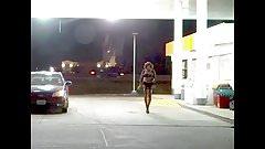 Sexy Crossdresser teases in public