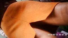 Sexy Sri Lankan Teen's Hot Up-Skirt in Xerox booth