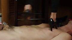 Cruel Sara - Marking up a bitch slave