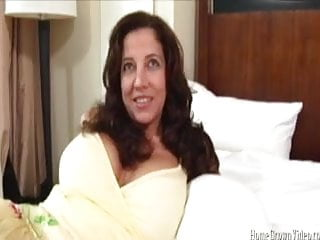Fucking a big tit brunette milf in front of her husband