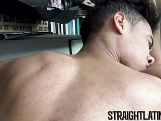 Young straight Latino banged and facialised for money