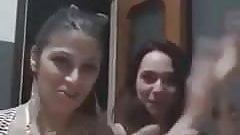 Italian friend lesbian kiss