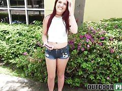 Lusty teen Brooke Haze demonstrates her banging skills