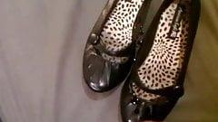 Plastering a sluts ballerinas with cum
