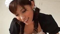 Japanese Maid Sexy POV Blowjob