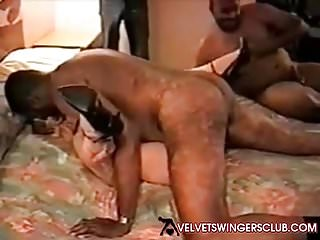 Velvet Swingers Club member fucked by 3 BBC studs