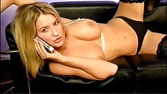 Stunning Danica Thrall cock-teasing in sexy lingerie