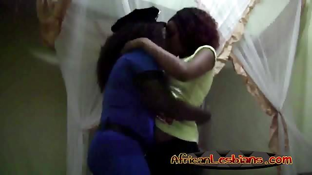 Preview 1 of Horny ebony lesbians sharing their lust