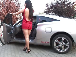 Hot babe getting her ass pounded