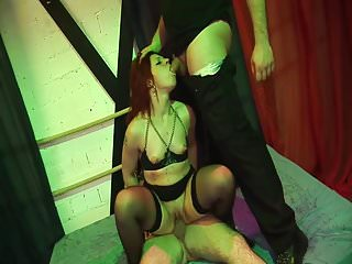 Slave slut gets punishment and a lot of cocks
