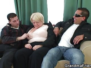 Two dudes bang boozed old granma
