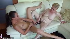 OldNanny Hot granny is enjoying with crazy teen