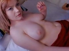 Babe in red lingerie perfect faces of masturbation on webcam