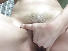 Japanese hot girl playing with my cum