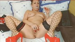 Smoking fetish cam model private show part 2
