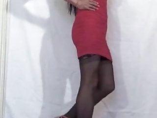 Pink Front Zipper Mini-Dress Side View