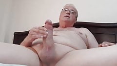 Daddy masturbates his big dick twice with close up cum shots