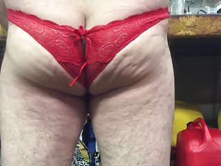 Preview 4 of My balls in crotchless. Panties