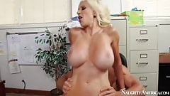 naughty america Puma Swede fucking in the office