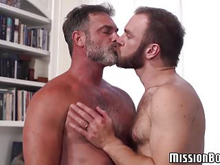 Bearded Mormon gay guys engage in hardcore ass fucking