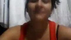Spanish milf flashing on cam