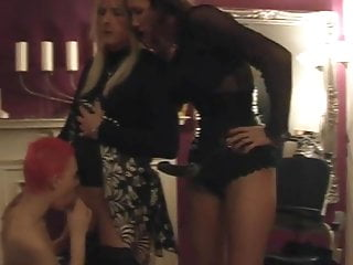 Strapon Mistress And Slave Girl With Sissy Slave #2