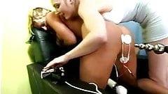 Sexy busty milf gets multiorgasm from estim. Female e-stim.