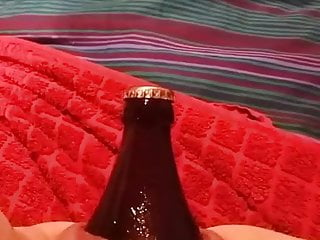 Big Beer Bottle in pussy