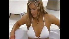 Katy Hill White Bikini. Linda Lusard