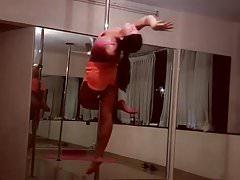 Sex appeal as she pole dances like a pro
