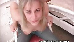 Hot Young Wife Gives Gag Action