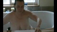 Reba's bath time