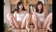 Japanes beauties drop knickers and spread