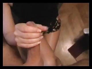 Black and White Pantyhose Cumming