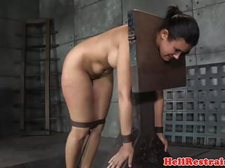 Video bokep online Busty restrained slave caned while cunt toyed 3gp