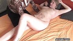 GanzGeil.com German lesbian milfs licking their shaved twats