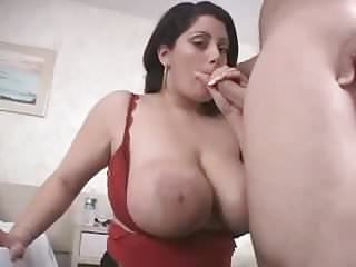 Chubby babe with big natural tits fucking and taking facial
