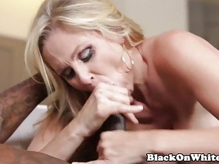 BBC hungry milf sucking lucky black guys cock