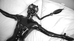 Gasmask - Latex machine fucked