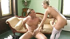 Blonde loving mature dick